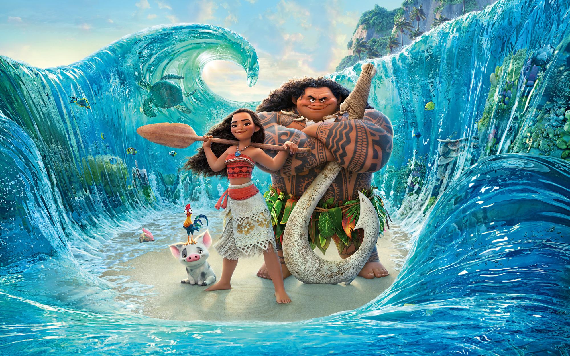 Odvážná Vaiana: Bonusová scéna - Maui na rybách | Fandíme filmu