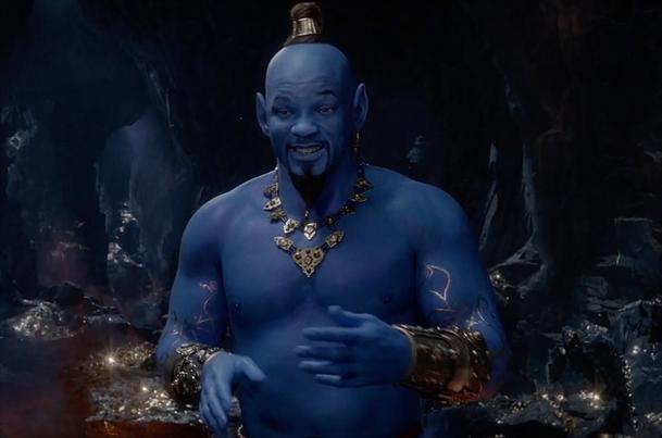 Aladin: Nový trailer nabízí první pohled na modrého Willa Smithe v pohybu   Fandíme filmu