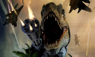 Jurassic Thunder: Laciné akční béčko láka na tyranosaura s kulometem | Fandíme filmu