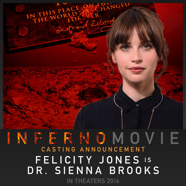 Inferno: Známe kompletní obsazení | Fandíme filmu
